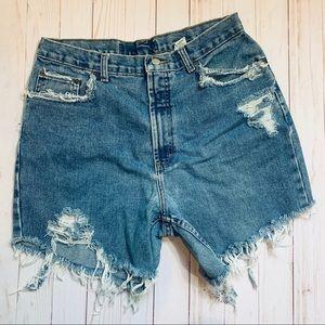 Vintage Denim Cut Off Jean Shorts
